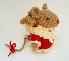 Mommy mouse and Baby mouse Amigurumi Crochet Pattern. | by HandmadeKitty=^_^=