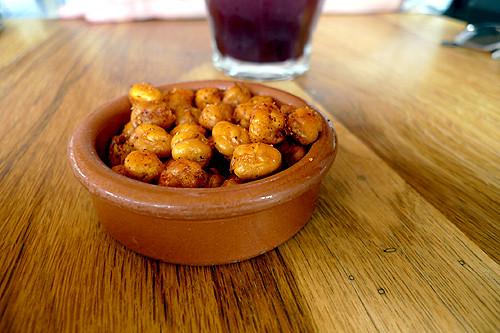 roasted, spicy chickpeas | by David Lebovitz