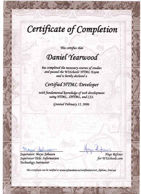 Certified HTML Developer   Certificate from W3 Schools. This…   Flickr