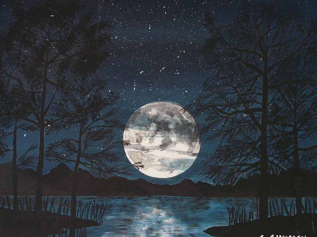 Moon (painting) | I painted this acrylic on canvas | Sukhi | Flickr