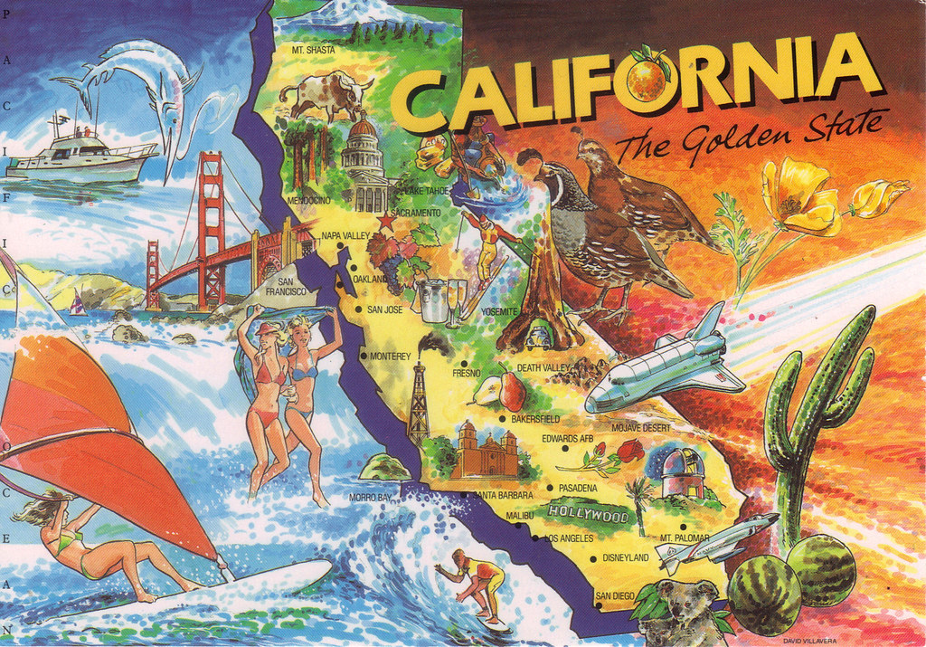 All sizes California cartoon map Flickr Photo Sharing