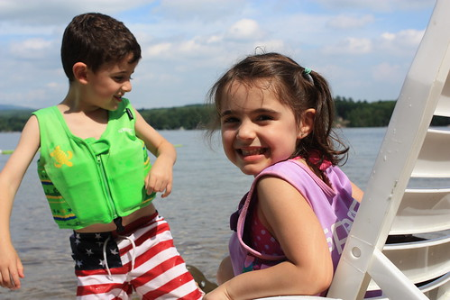 John & Sophia having fun at the beach | by Anchorage at the Lake - NH