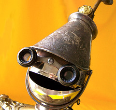 robot assemblage sculpture * COMMANDER CUPCAKE - The Costume Kid Steampunk Robot | by Reclaim2Fame