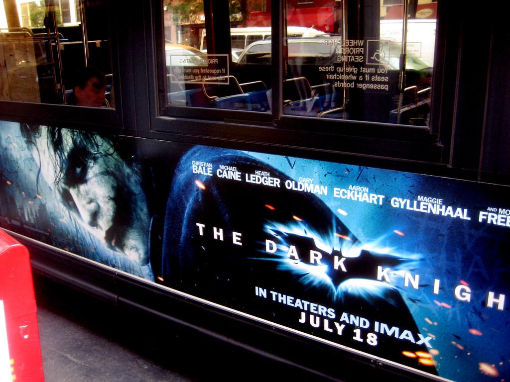 Heath Ledger Joker Dark Knight Batman Movie Poster Bus Adv -9671