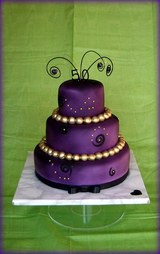 Purple And Gold Birthday Cake Karen Lindsay Flickr