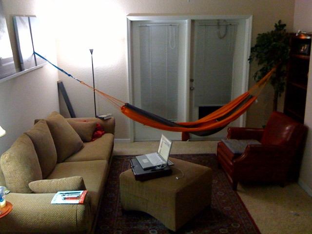 Living Room Hammock : Living room hammock  My best piece of furniture so far! I ...