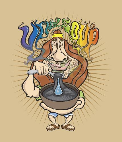 hippie cartoon character t