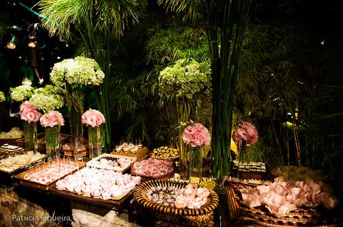 Decoração verde e rosa  Flickr  Photo Sharing!