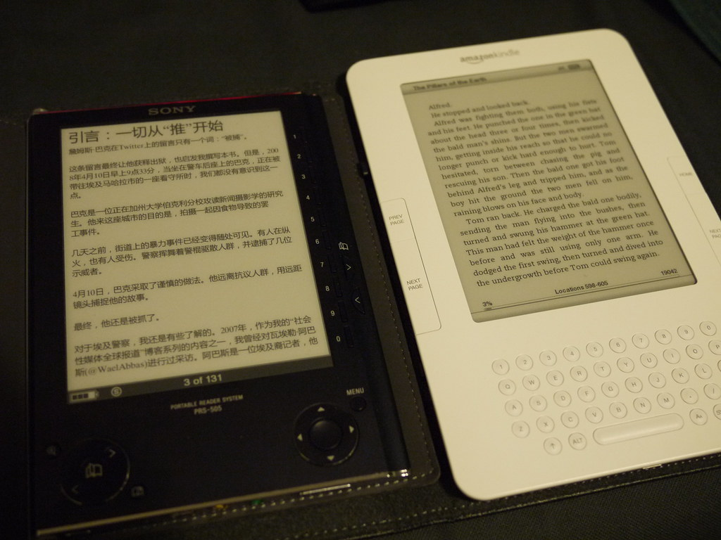 Kindle Vs Sony Reader: Sony PRS 505 Vs Amazon Kindle