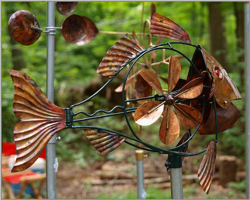 Weathervanes >> Fish Whirligig | This Whirligig was amazing. When the Wind ...