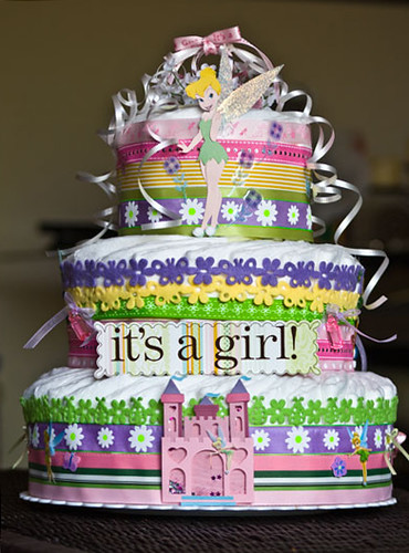 Tinkerbell Diaper Cake | Flickr