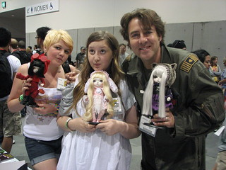 BBC Jonathan Ross & family withToffee dolls at San Diego C ...