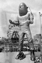 Spaceman Coney Island NYC 1960s | by Brechtbug