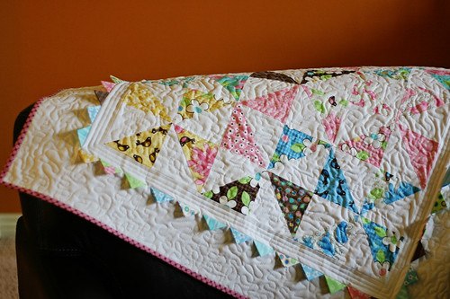 Pinwheel Baby Quilt - Prairie Points | by Andrea (Knitty Bitties)
