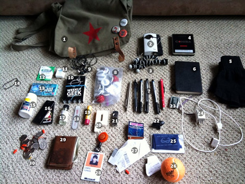 my go bag let me show you it these are the contents of