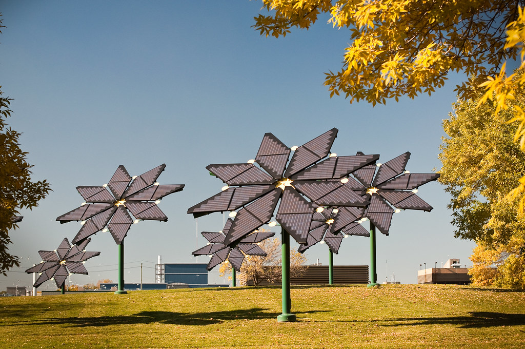 Flower Shaped Solar Panels Brian Guest Flickr