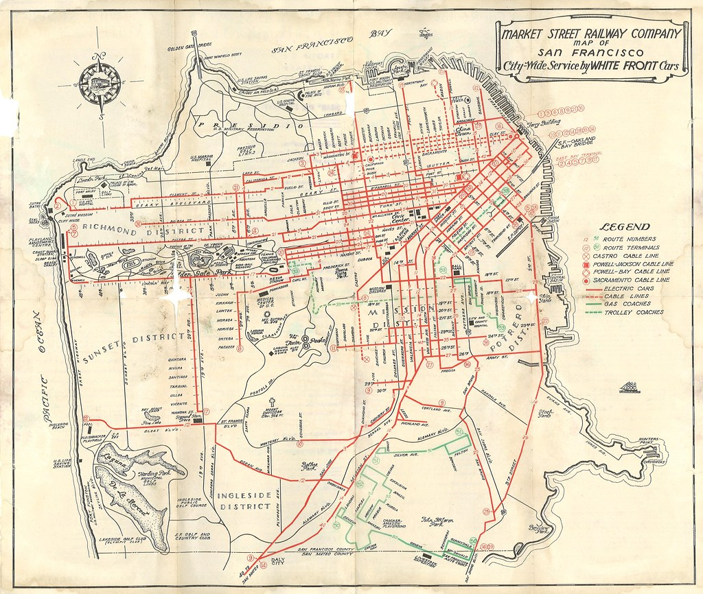 Market street railway map of san francisco city wide serv flickr market street railway map of san francisco city wide service by white front cars sciox Choice Image