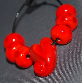 Red on Red Heart Set | by JungleBeads