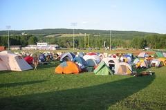 Camping at Watkins Glen High School