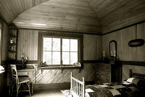 Interior Of A Rustic Cabin Adirondack Museum Blue Mounta