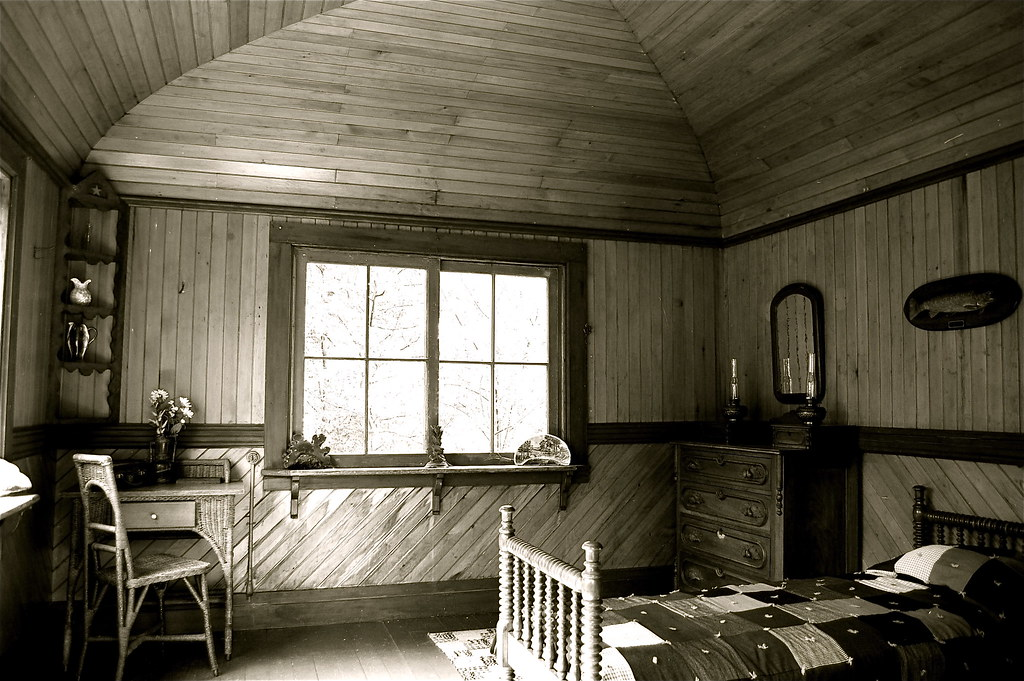 ... Interior Of A Rustic Cabin, Adirondack Museum, Blue Mountain Lake NY |  By Ed