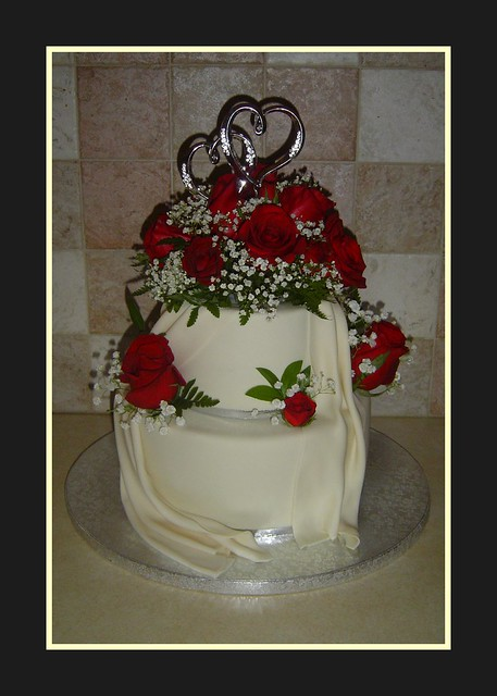 anniversary wedding cake toppers 40th wedding anniversary cake this cake was a gift for 10787