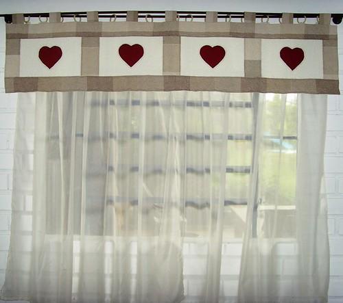 Cortina romantica cortina de voal band em patchwork for Cortinas romanticas