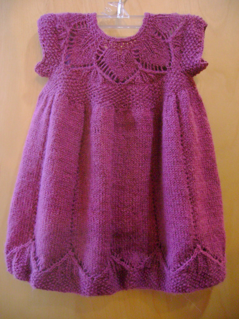 clara baby dress knit by martha with isager alpaca 2