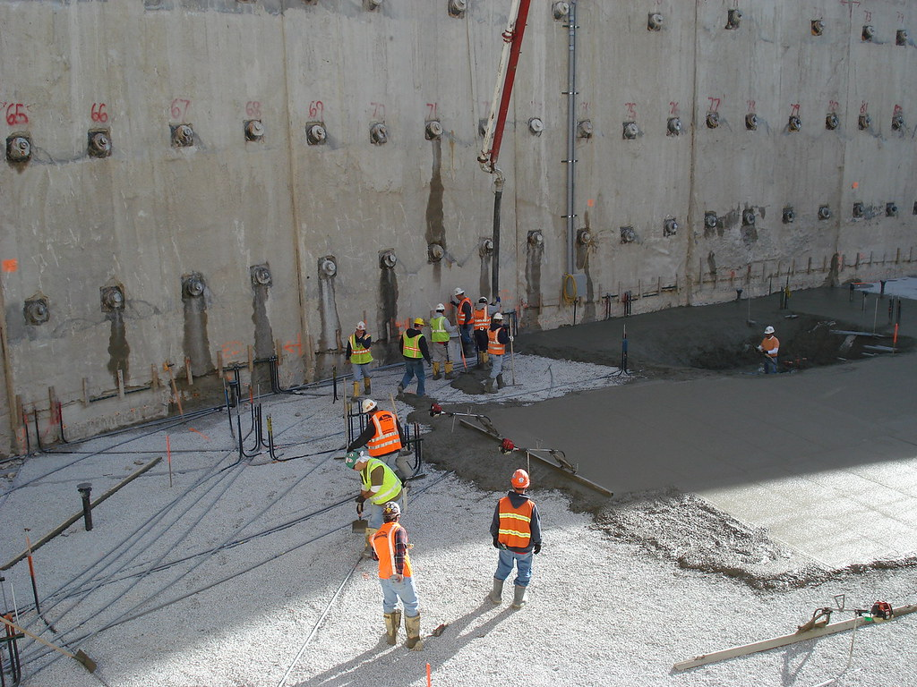 Pouring Concrete For Mud Mat Photo Of Mansueto Library