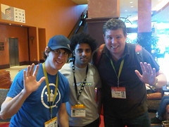 Just met the founders of FourSquare. Dennis Crowley and Naveen. @dens @naveen @foursquare #sxsw | by Rich Rogala
