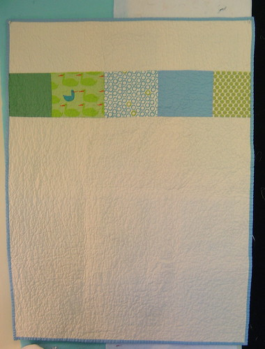 Boy Baby Quilt - Back | by alissahcarlton