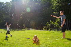 Sunshine and soap bubbles