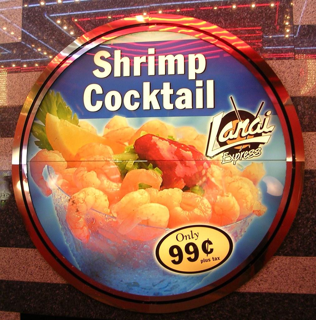 Downtown Circular Advert For Shrimp Cocktail Lanai Express 99 Cents