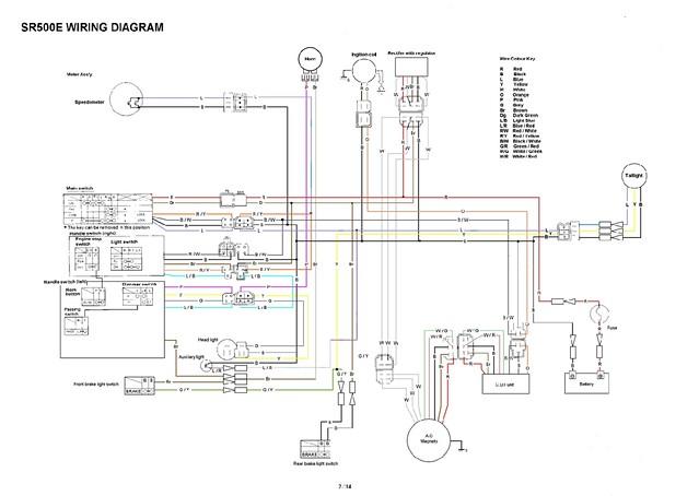 wiring diagram yamaha sr 500 wiring diagrams
