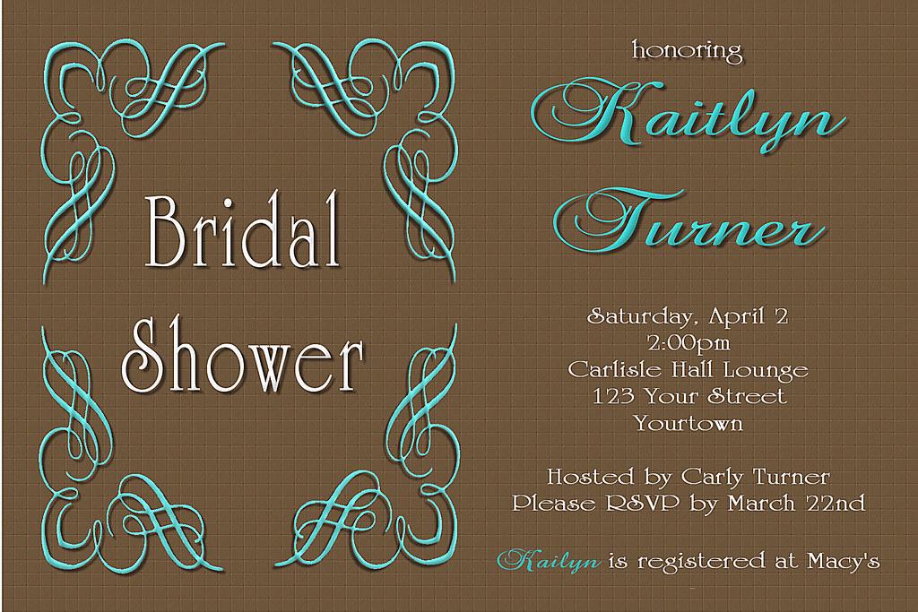 c63 tiffany blue brown bridal wedding shower chocolate in