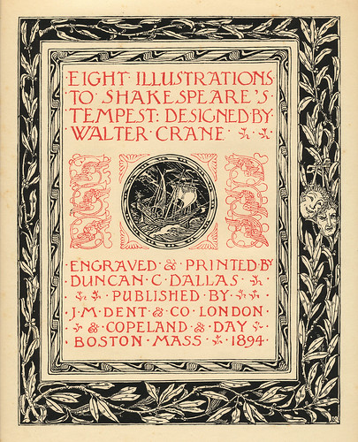 Illustrated Book Cover Generator : Shakespeare s tempest title page limited edition illustra