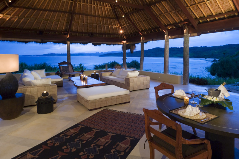 """Villa Haweri"" living room at Nihiwatu Resort"