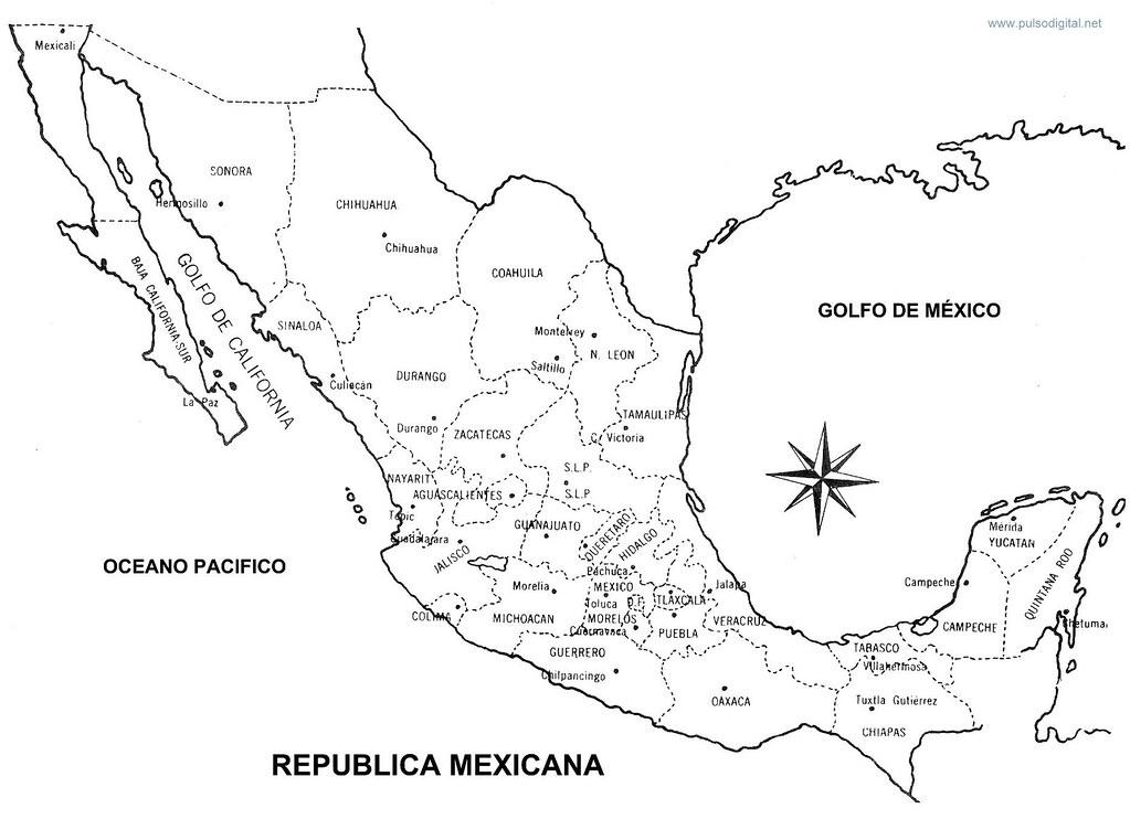 Mapa de la Republica Mexicana Con nombres y divisin pol  Flickr