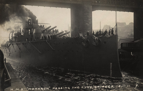 062612: H.M.S Monarch, the Tyne, 1911 | by Newcastle Libraries
