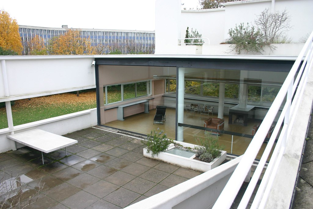 Villa Savoye roof terrace Mark Hogan Flickr