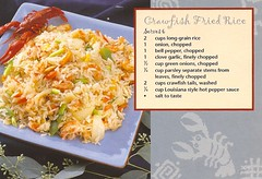 Recipes - Crawfish Fried Rice | by Postcard Blogger