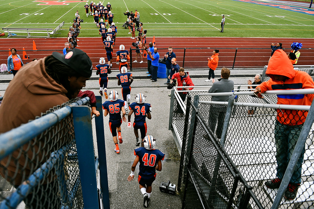 © 2016 by The York Daily Record/Sunday News. William Penn football players enter the field for a YAIAA football game Saturday, Sept. 24, 2016, at Small Field in York.