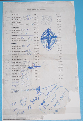 List of artists and payment at Woodstock, from Michael Lang. | by rockhall
