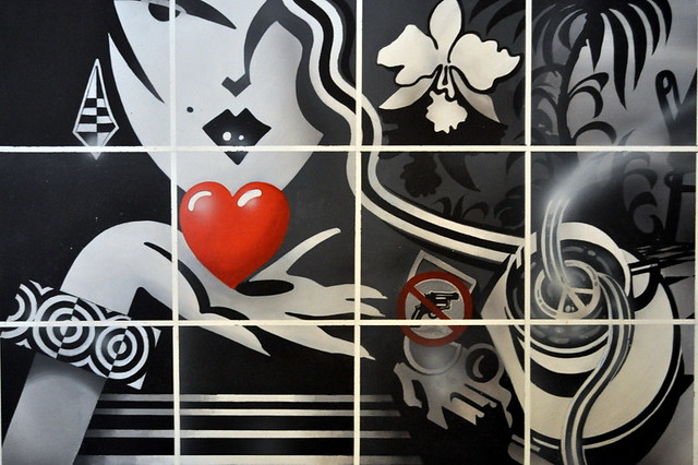 ... cafe wall art  by daev