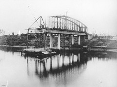 Construction of the second Indooroopilly Railway Bridge, Brisbane, May 1895 | by State Library of Queensland, Australia