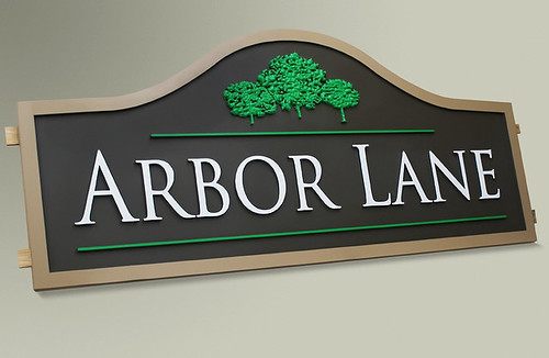 Custom Subdivision Wood Signs By Strata Outdoor Signage Flickr