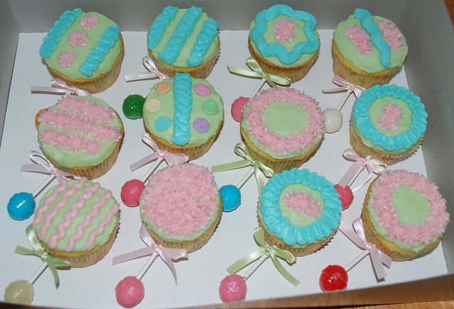 Baby rattle cupcakes   Flickr - Photo Sharing!