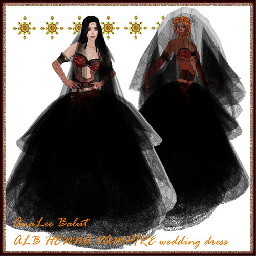 ALB HENNA Vampire Wedding Dress