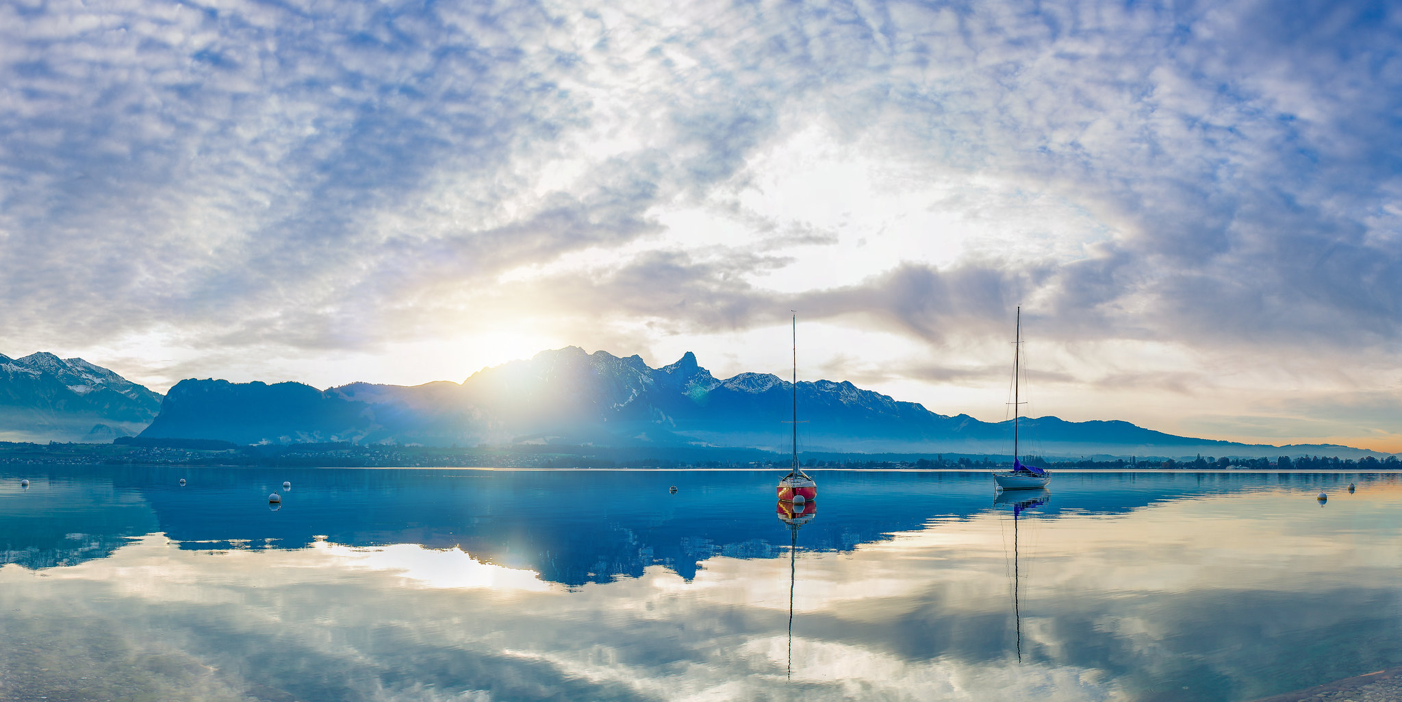Thunersee 2 Boote Pano