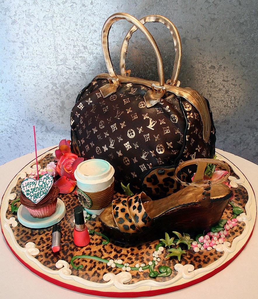 Designer Bag Shoe Starbucks 3 D Cake As A Designer Bag Flickr